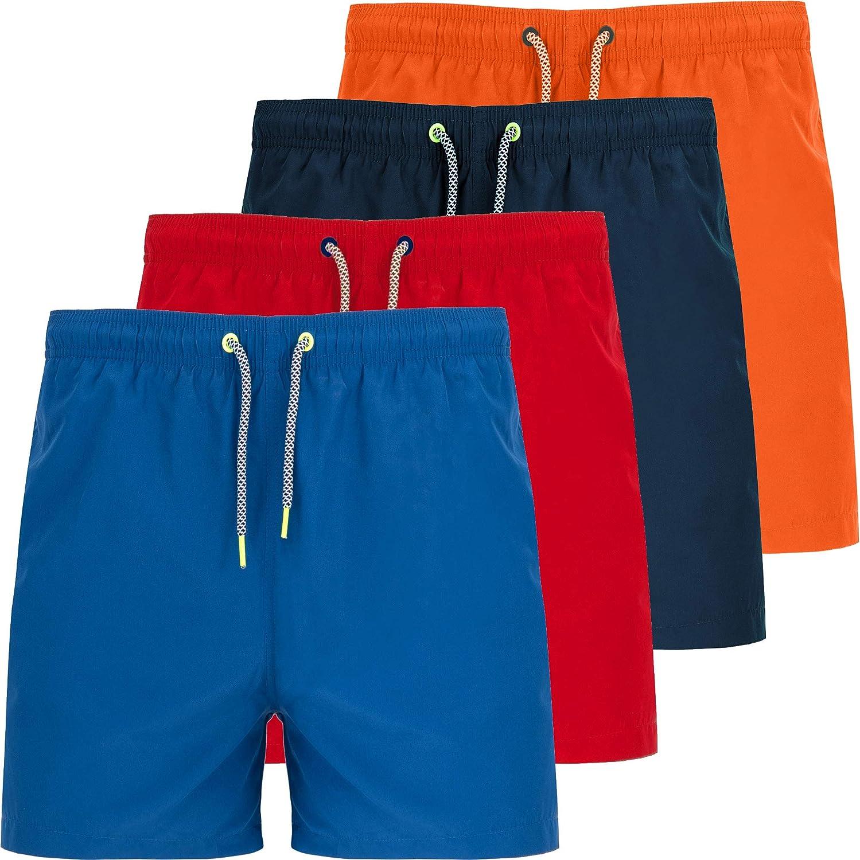 Bañador Hombre | Pack 4 | Bañador Corto Barato en 4 Colores | Verano 2020