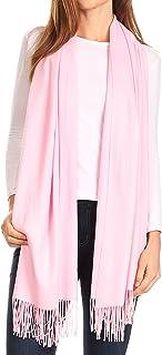Sakkas Iris Warm Super Soft Cashmere Feel Pashmina Shawl/Scarf with Fringes