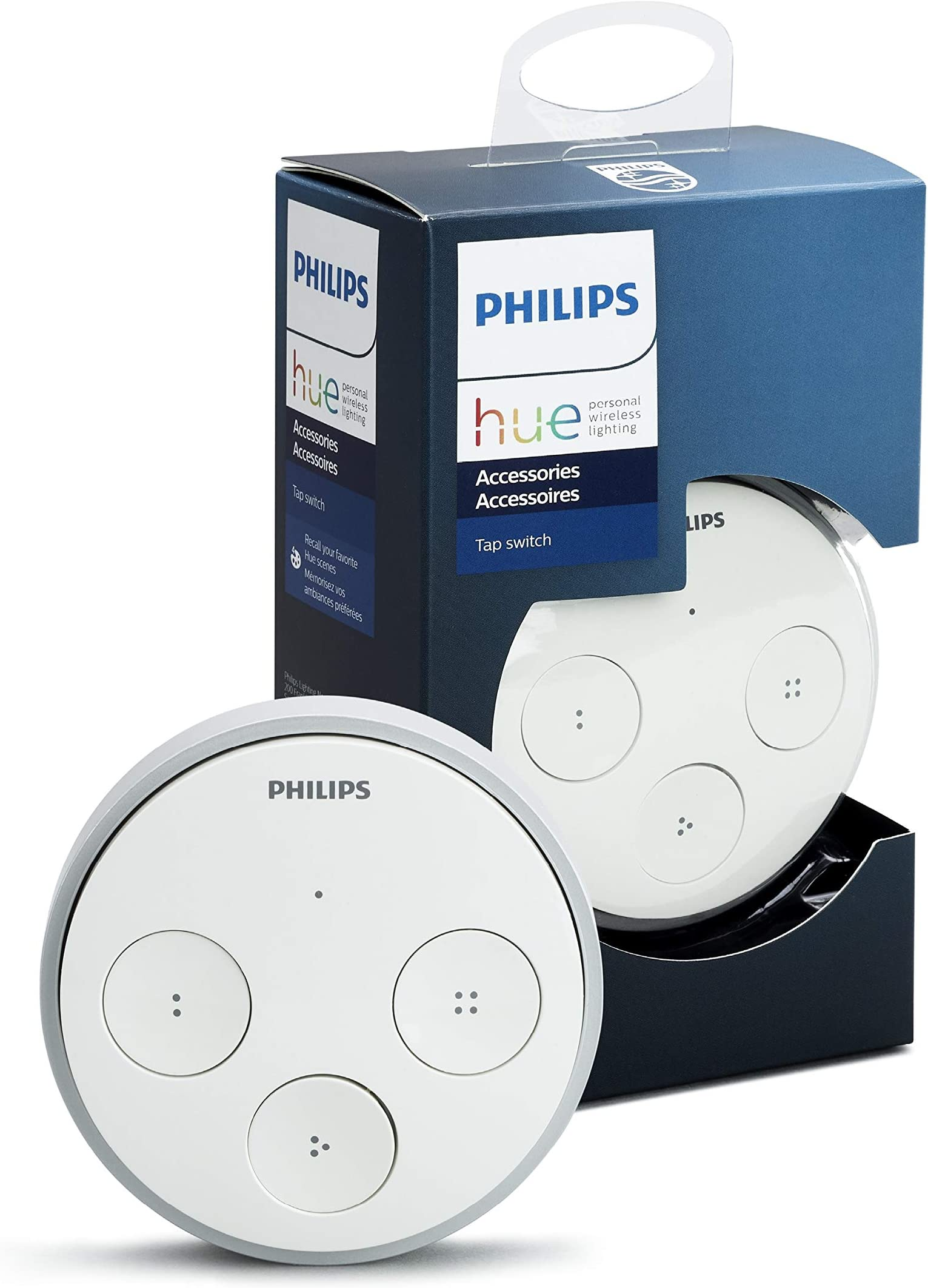 Philips 473363 Hue Tap Smart Light Switch Without Batteries, White