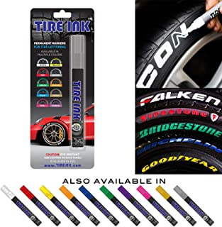 Tire Ink | Paint Pen for Car Tires | Permanent and Waterproof | Carwash Safe (1 Pen, Silver)
