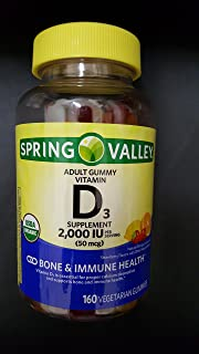 SPRING VALLEY D3, 2000IU, 160 GUMMIES