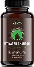 Detox Organics Activated Charcoal Capsules - Alleviates Stomach Bloating & Provides Gas Relief - Promotes Natural Detoxifi...