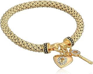Women's Boxed Gold Heart Key Stretch Bracelet, Size: 0