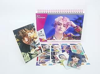 BTS Bangtan Boys 2019-2020 Desk Calendar, Stand Photo,Mini Photo Card,Stickers (V Calendar)