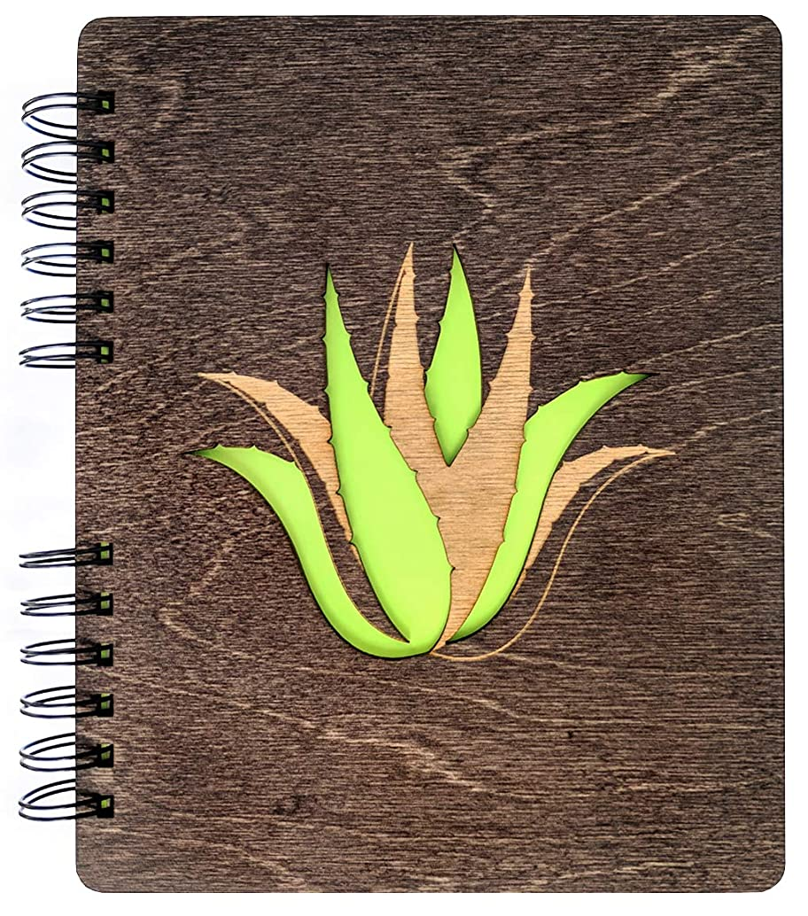 Weddings-by-StockingFactory Succulent Plant Journal Hard Cover Wood Garden Notebook Garden Birthday Anniversary Graduation Mothers Day Sketchbook