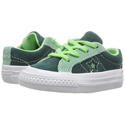 Converse Kids One Star Ox (Infant/Toddler) (Ponderosa Pine/Neptune Green/Illusion Green) Boy