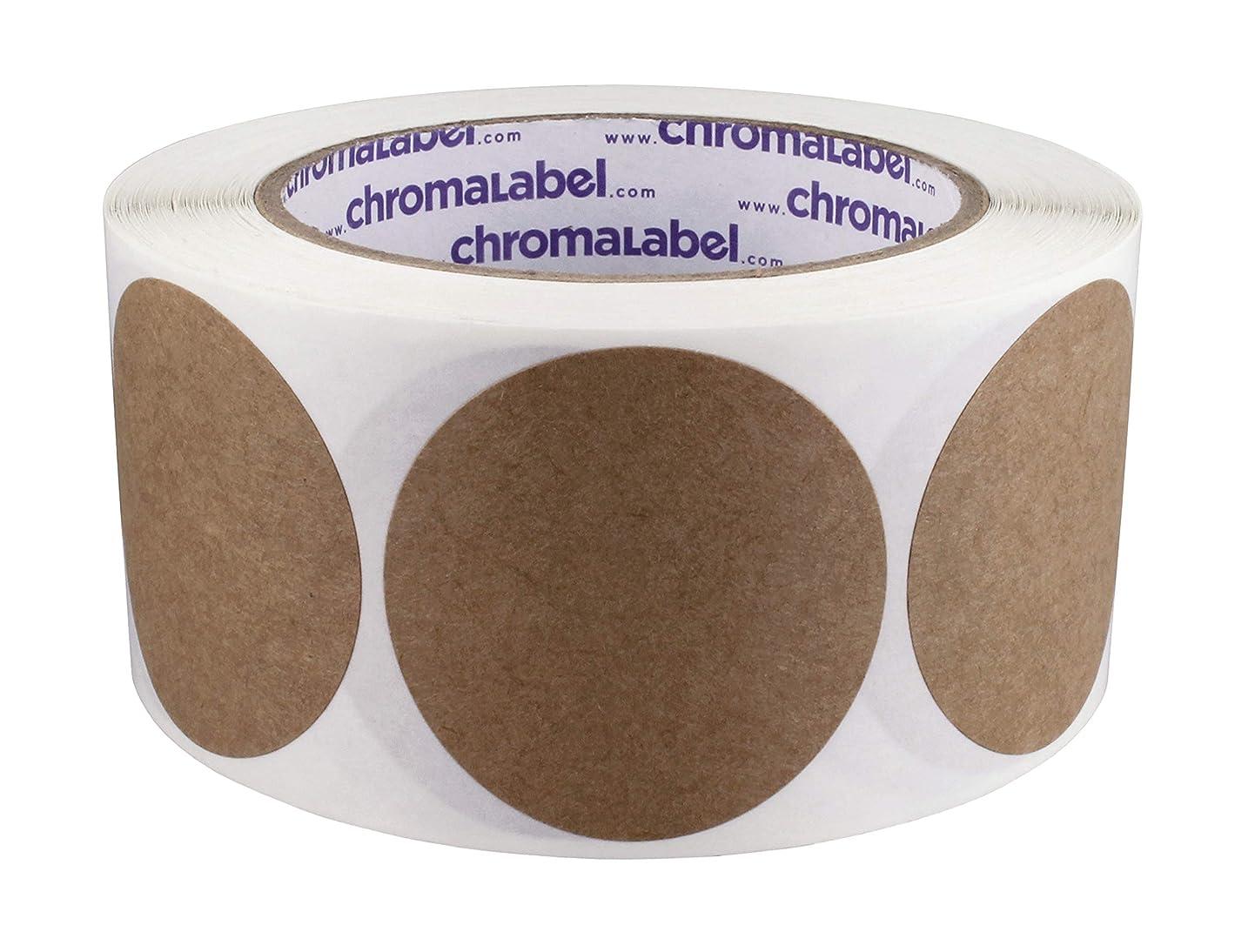 ChromaLabel Kraft Dot Labels | 500/Roll (2 inch) zovyuictcvf4