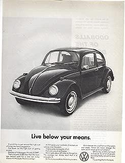 1969 Original Magazine Print Ad #1 Volkswagen Beetle