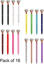 Diamond Pens Rhinestones Ballpoint Pens Office Supplies Décor Gifts for Women Bridesmaid Coworkers Cute Cool Glitter Novelty Fancy Pens Rose Gold School Accessories All with Polka Dots Black Ink Pack
