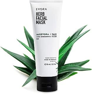 EVORA© Aloevora Herb Facial Mask - Aloe Vera Gesichtsmaske - Anti Aging Maske gegen Mitesser und Pickel - Peeling für das Gesicht - Gesichtspflege für die Haut