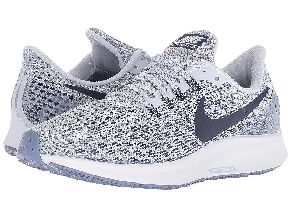 Nike Air Zoom Pegasus 35 (Football Grey/Blue Void/White/Aluminum) Women