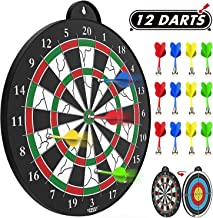 STREET WALK Magnetic Dart Board – 12pcs Magnetic Dart – Excellent Indoor Game..