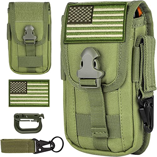IronSeals Tactical Cell Phone Holster Pouch, Tactical Smartphone Pouches EDC Cellphone Case Utility Gadget Bag Molle ...