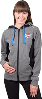 Ultra Game NBA Women's Full-Zip Fleece Hoodie Sweatshirt Jacket