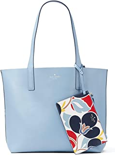 Arch Place Mya Breezy Floral Reversible Leather Tote Bag Shoulder Bag