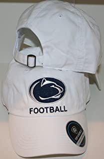 Campus Hats Penn State University PSU Nittany Lions 'Penn State Football' Top 100% Cotton Unstructured White Adult Mens/Womens/Youth Adjustable Baseball Hat/Cap
