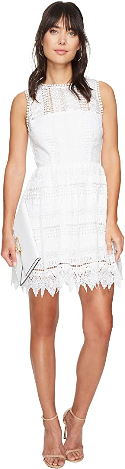 Elissa Lace Fit N Flare Dress