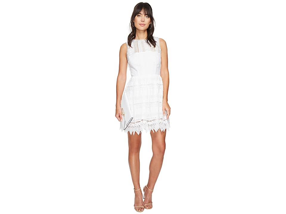 BB Dakota Elissa Lace Fit N Flare Dress (Ivory) Women