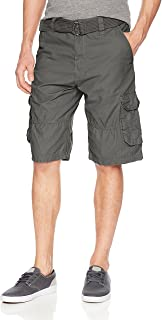 Southpole Men's All-Season Belted Ripstop Basic Cargo Short-Reg and Big & Tall Sizes