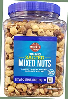 Wellsley Farms Salted Mixed Nuts Net Wt (42 Oz),, ()