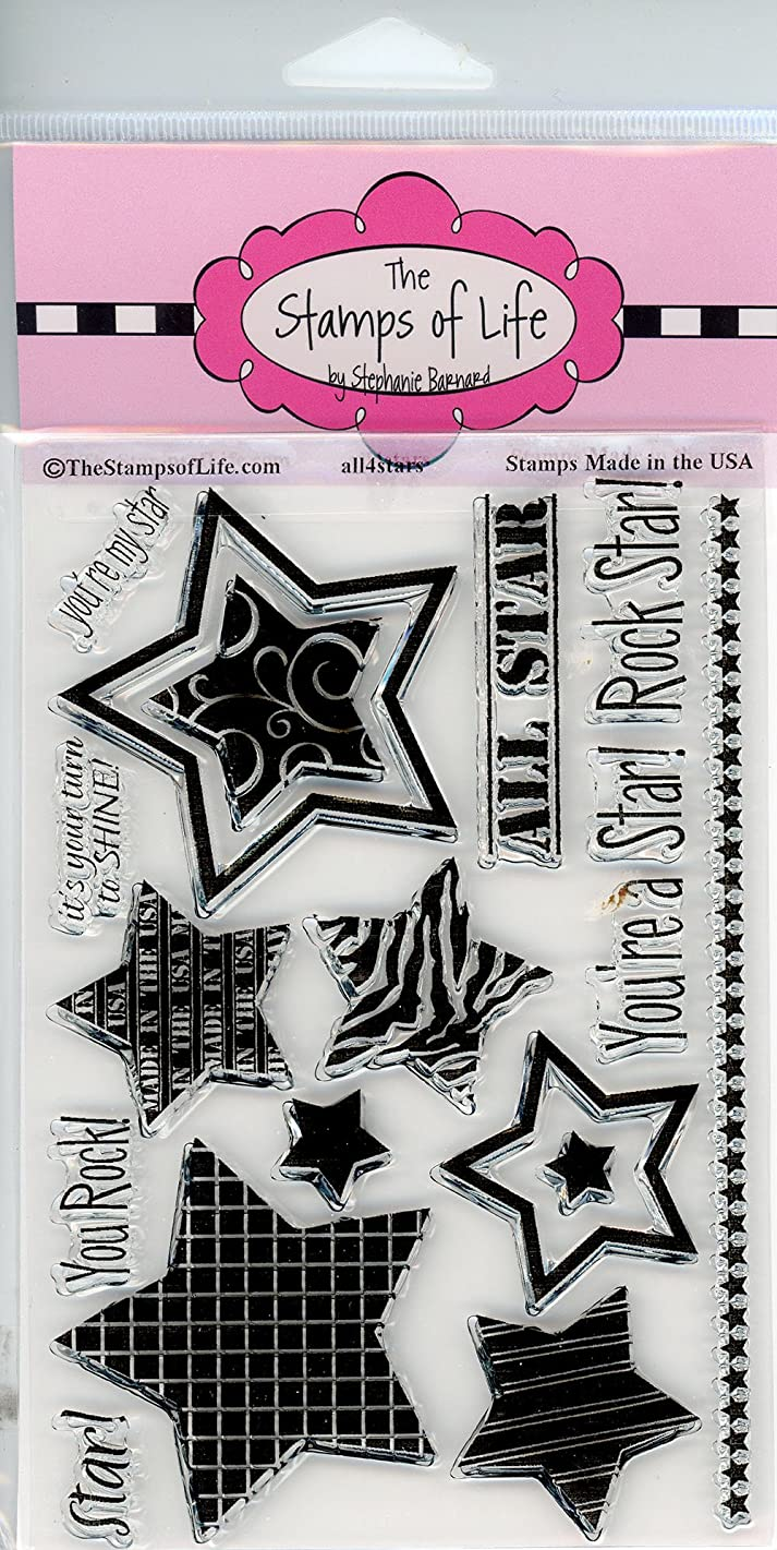Party Sentiment Clear Stamps for Scrapbooking and Card-Making by The Stamps of Life - All4Stars