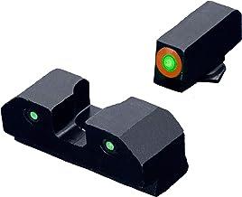 XS Sights RAM Tritium Glock Night Sights, Green or Orange photoluminescent Glow Dot and Tritium Front Sight Combination, T...