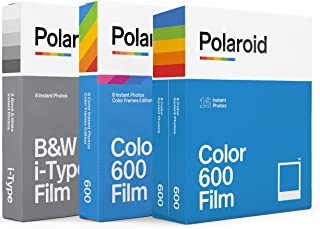 Polaroid 600 Film Variety Pack - 600 Color Film, B&W Film, Color Frames Film (32 Photos) (6183)