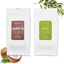 Celavi Oil Makeup Remover Cleansing Towelettes 30 Sheets/2 Pack Made in Korea (Coconut/Olive Oil)