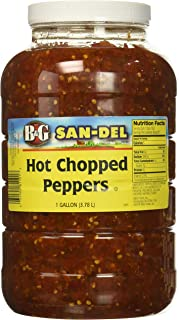 B&G San-Del Hot Chopped Peppers, 1 Gallon