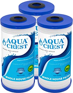 AQUACREST AP810 5 Micron Whole House Water Filter, Compatible with 3M Aqua-Pure AP810, AP801, AP811, Whirlpool WHKF-GD25BB, Pack of 3