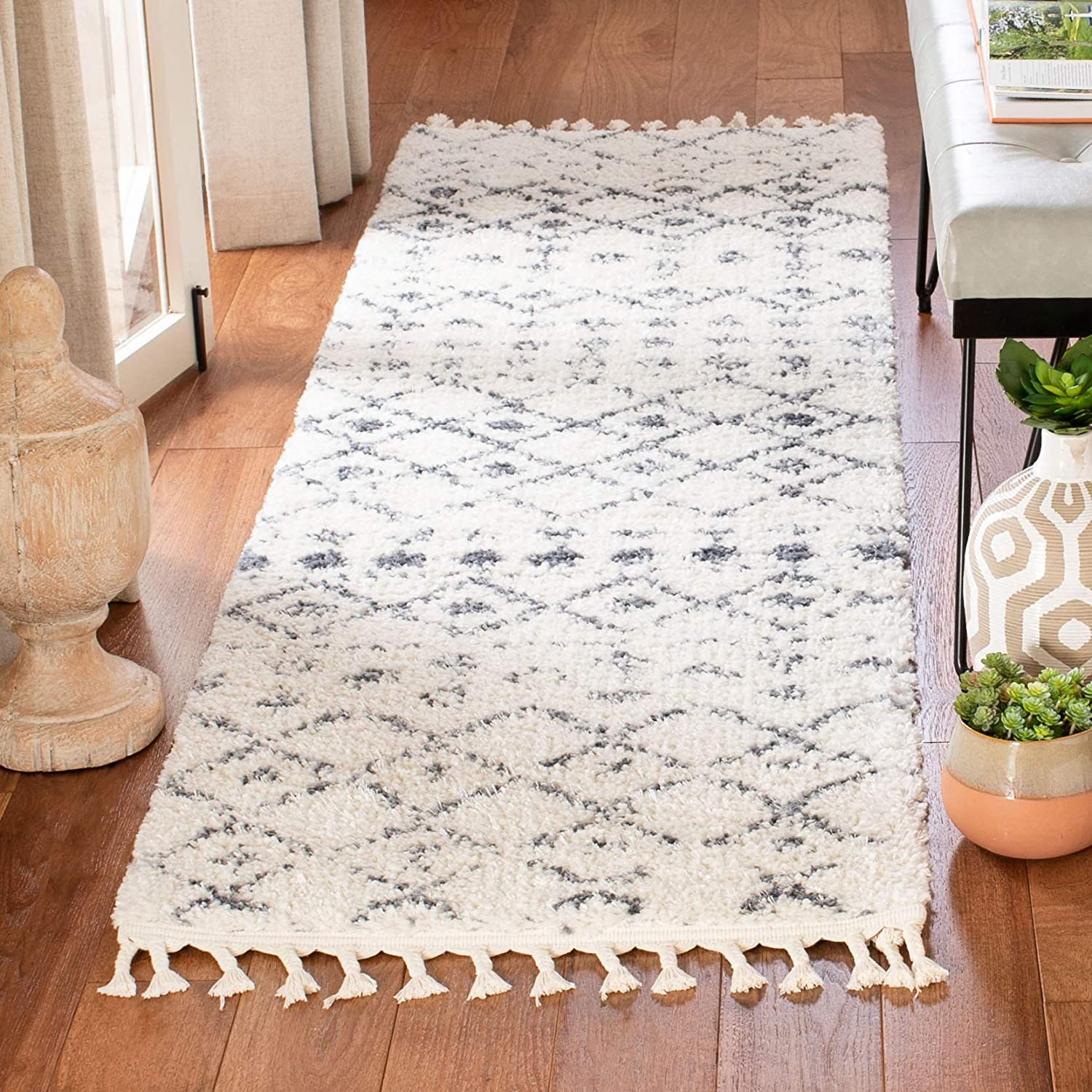 SAFAVIEH Berber Inexpensive Fringe Shag Moroccan 2021 new Non-Shed Collection BFG516A