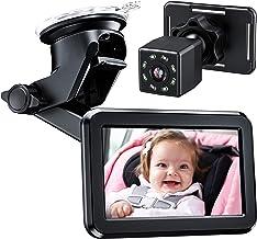 دوربین اتومبیل کودک-آینه-پشت-صندلی Itomoro - با نمایشگر آینه اتومبیل عملکرد دید در شب HD ، براکت مکنده قابل استفاده مجدد ، نمای گسترده ، فندک سیگار 12 ولت ، حرکت کودک را به راحتی مشاهده کنید