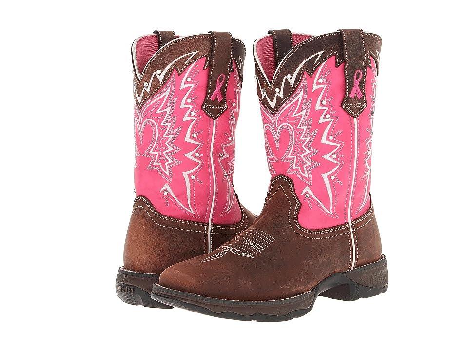 Durango 10 Stefanie Spielman BCA Boot (Dark Brown/Pink) Women's Boots