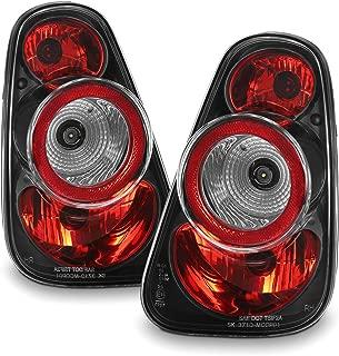 For 2002-2006 Mini Cooper Hatchback 2005-2008 Mini Cooper Convertibles Black Tail Lights Pair