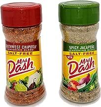 Mrs. Dash No Salt Seasoning Spicy Jalapeno and Southwest Chipotle Bundle (1 each 2.5 ounce bottle)