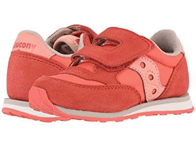 Saucony Kids Originals Jazz Hook Loop (Toddler/Little Kid) (Pink/Pink) Girls Shoes
