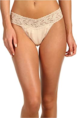 Hanky Panky Organic Cotton Original Rise Thong w/ Lace