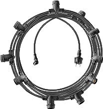 Brennenstuhl Lichtsnoer met 10 lamphouders E27, zwart