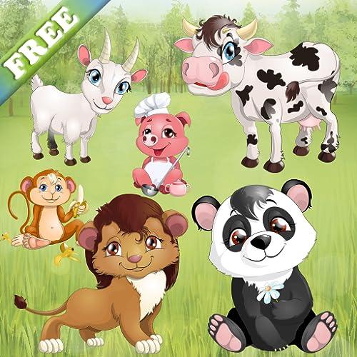 Tiere für Kleinkinder und Kinder : Puzzle-Spiele mit Haustieren und Wildtieren ! Lernspiel - KOSTENLOS