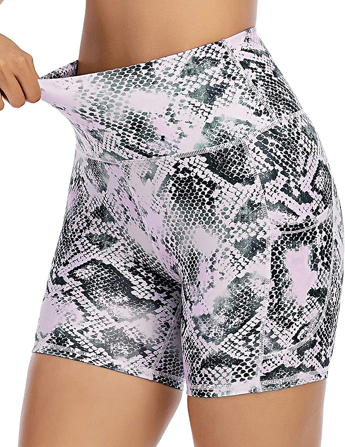 FAFAIR Workout Shorts for Women Bike Sports Yoga Athletic Running Spandex Shorts with Pockets High Waist