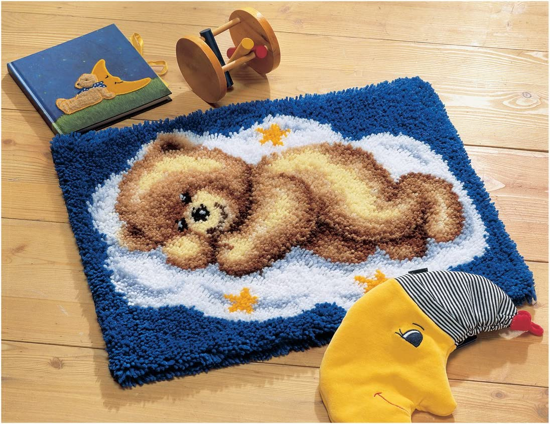 Vervaco 2565 38.012 Sleeping Teddy On Manufacturer OFFicial shop Latch Cloud Hook Popularity Kit Rug