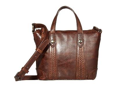 Frye Melissa Mini Crossbody Shopper (Dark Brown) Cross Body Handbags