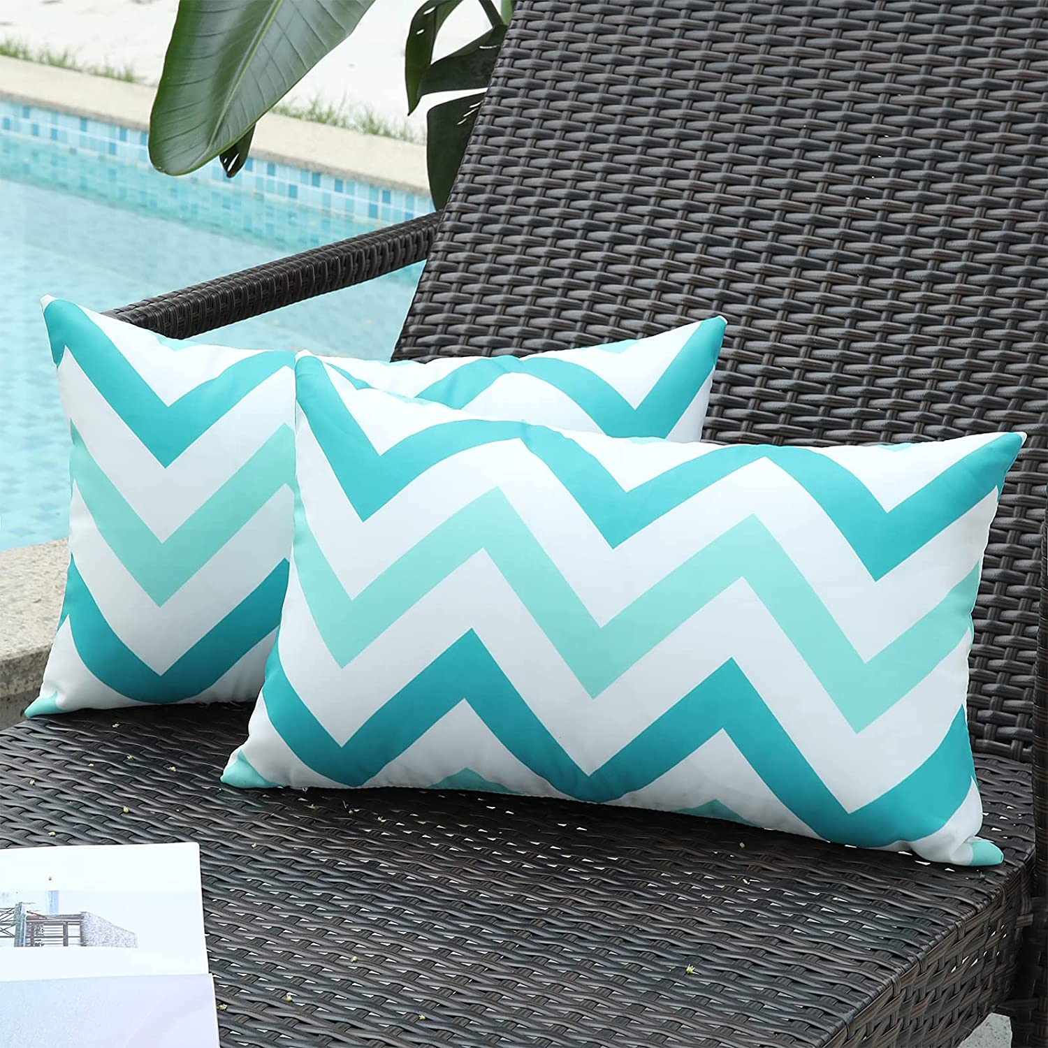 decorUhome Pack of 2 Outdoor Throw Waterproof Pillow Deco Limited Special Price Max 41% OFF Covers