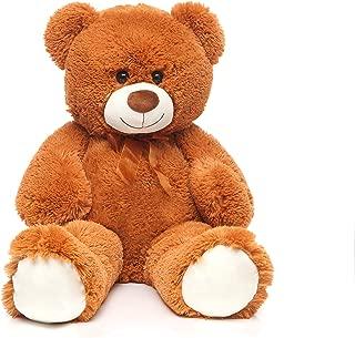 DOLDOA Giant Teddy Bear Soft Stuffed Animals Plush Big Bear Toy for Kids,Girlfriend 35.4 inch(Brown)