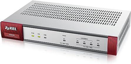 Zyxel ZyWALL (USG) UTM Firewall, Gigabit Ports, for Small Offices, 20 IPSec VPN, 5 SSL VPN, Limited, Hardware Only [USG40-NB]