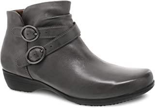 Dansko Women's Faithe Grey Inside Zip Ankle Bootie 5.5-6 M US