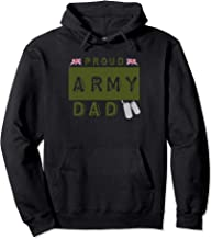 Proud British Army Dad Armed Forces Military Union Jack Pullover Hoodie