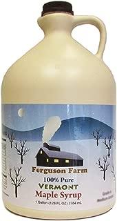 Ferguson Farms 100% Pure Vermont Maple Syrup, Grade A Fancy Light, Jug 1 Gallon (128oz)