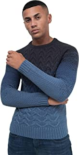 Crosshatch Mens Knit Jumper Cable Fisherman Sweater Pullover Top Ribbed Winter