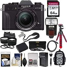 $1329 Get Fujifilm X-T30 Wi-Fi Digital Camera & 18-55mm XF Lens (Black) with 64GB Card + Battery + Charger + Tripod + Flash + Backpack + 2 Lens Kit